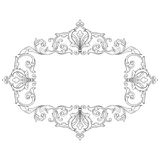 葡萄酒巴洛克式的框架板刻纸卷装饰品 免版税库存照片