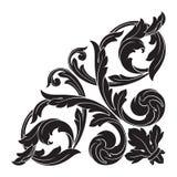 葡萄酒巴洛克式的框架板刻纸卷装饰品 图库摄影