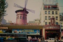 葡萄酒1975年剧院在巴黎,法国射击了 免版税库存照片