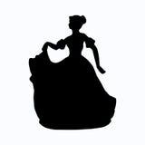 葡萄酒维多利亚女王时代的夫人剪影 免版税库存图片