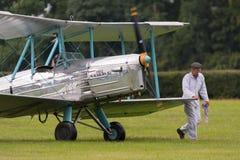 葡萄酒1932年布莱克本B2英国双翼飞机 免版税库存图片