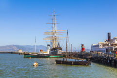 葡萄酒1886帆船在旧金山 免版税库存照片