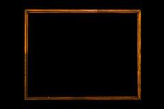 葡萄酒画框,被镀的木头 免版税库存图片