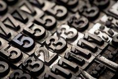 葡萄酒活版字母表和数字背景 库存图片