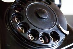 葡萄酒黑电话拨号盘关闭 库存照片