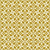 葡萄酒黃色花螺旋十字架鞋帶樣式的無縫的背景圖象 庫存照片圖片