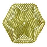 葡萄酒绿色被编织的餐巾 免版税库存图片