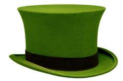 葡萄酒绿色高顶丝质礼帽 免版税库存图片