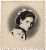 葡萄酒画象, 1951年 免版税库存图片