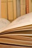 葡萄酒年迈的书 免版税图库摄影