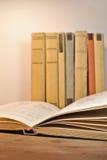 葡萄酒年迈的书 免版税库存图片