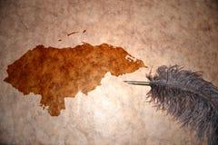 葡萄酒洪都拉斯地图 库存照片