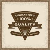 葡萄酒100%质量标签 库存照片