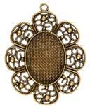 葡萄酒黄铜垂饰 免版税库存照片