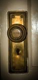 葡萄酒黄铜门锁钥匙 免版税库存照片