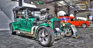 葡萄酒1927 T模型福特旧车改装的高速马力汽车 库存照片