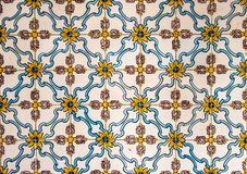 葡萄酒azulejos,传统葡萄牙瓦片 免版税库存照片