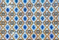 葡萄酒azulejos,传统葡萄牙瓦片 免版税图库摄影