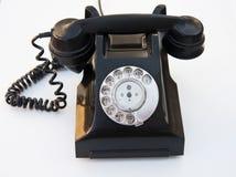 葡萄酒Bakerlite电话-黑色 库存照片