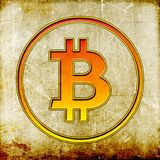 葡萄酒Bitcoin标志 库存照片