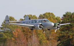 葡萄酒C-45 Expeditor航空器 库存图片
