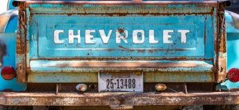 葡萄酒chevey车辆后档板 免版税库存图片