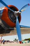 葡萄酒DC-3飞机引擎 免版税库存图片