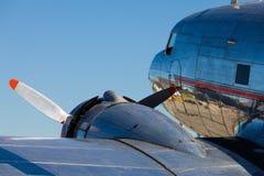 葡萄酒DC-3飞机 库存图片