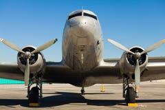 葡萄酒DC-3飞机 免版税库存图片