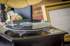 葡萄酒gramaphone 库存照片