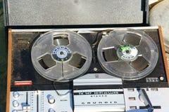葡萄酒Grundig开盘式的录音机 免版税库存照片