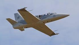 葡萄酒L-39 Albatros喷气式歼击机 库存照片