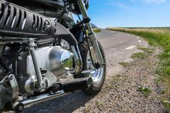 葡萄酒Motorbike.jpg 免版税库存照片