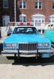葡萄酒NYPD普利茅斯警车 免版税库存照片
