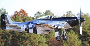 葡萄酒P-51野马战斗机 库存图片