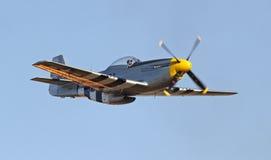 葡萄酒P-51野马战斗机 库存照片
