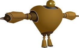 葡萄酒Steampunk机器人摘要例证 库存照片