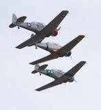 葡萄酒T-6德克萨斯人航空器 库存图片