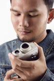 葡萄酒VDO照相机 免版税图库摄影