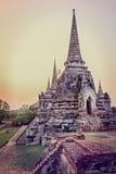 葡萄酒Wat Phra Si Sanphet,泰国 库存图片