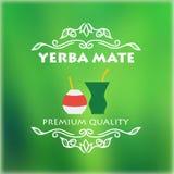 葡萄酒yerba伙伴标签 向量例证