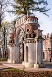 葡萄门在Tsaritsyno庄园博物馆 莫斯科 免版税库存图片
