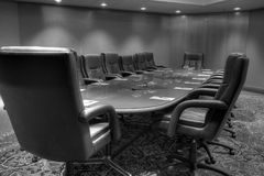 董事会会议会议室 免版税库存图片