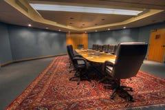 董事会会议室表 免版税库存照片