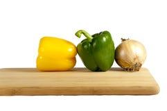 董事会剪切蔬菜 库存图片