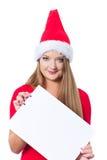 董事会圣诞节空的女孩藏品 免版税库存照片