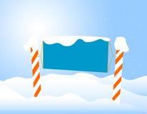 董事会圣诞节通知单冬天 免版税库存图片