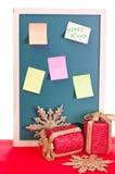 董事会圣诞节通知单 库存图片