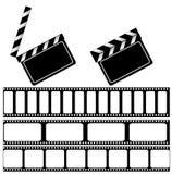 董事会拍板filmstrip电影 皇族释放例证