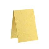 董事会文理不规则纸黄色 免版税库存照片